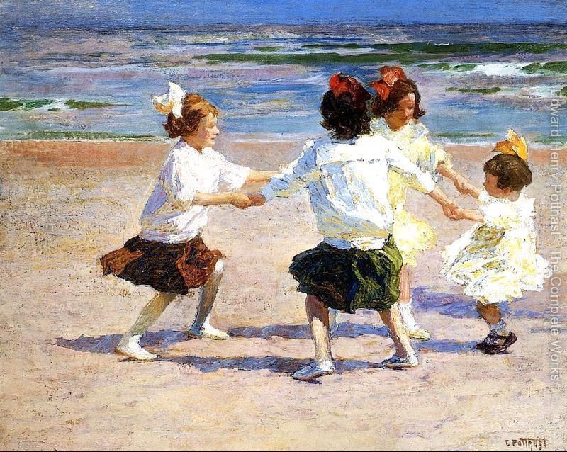 Children oil painting Ring around the Rosy by Edward Henry Potthast Paintings High quality Hand painted Canvas Art Home Decor