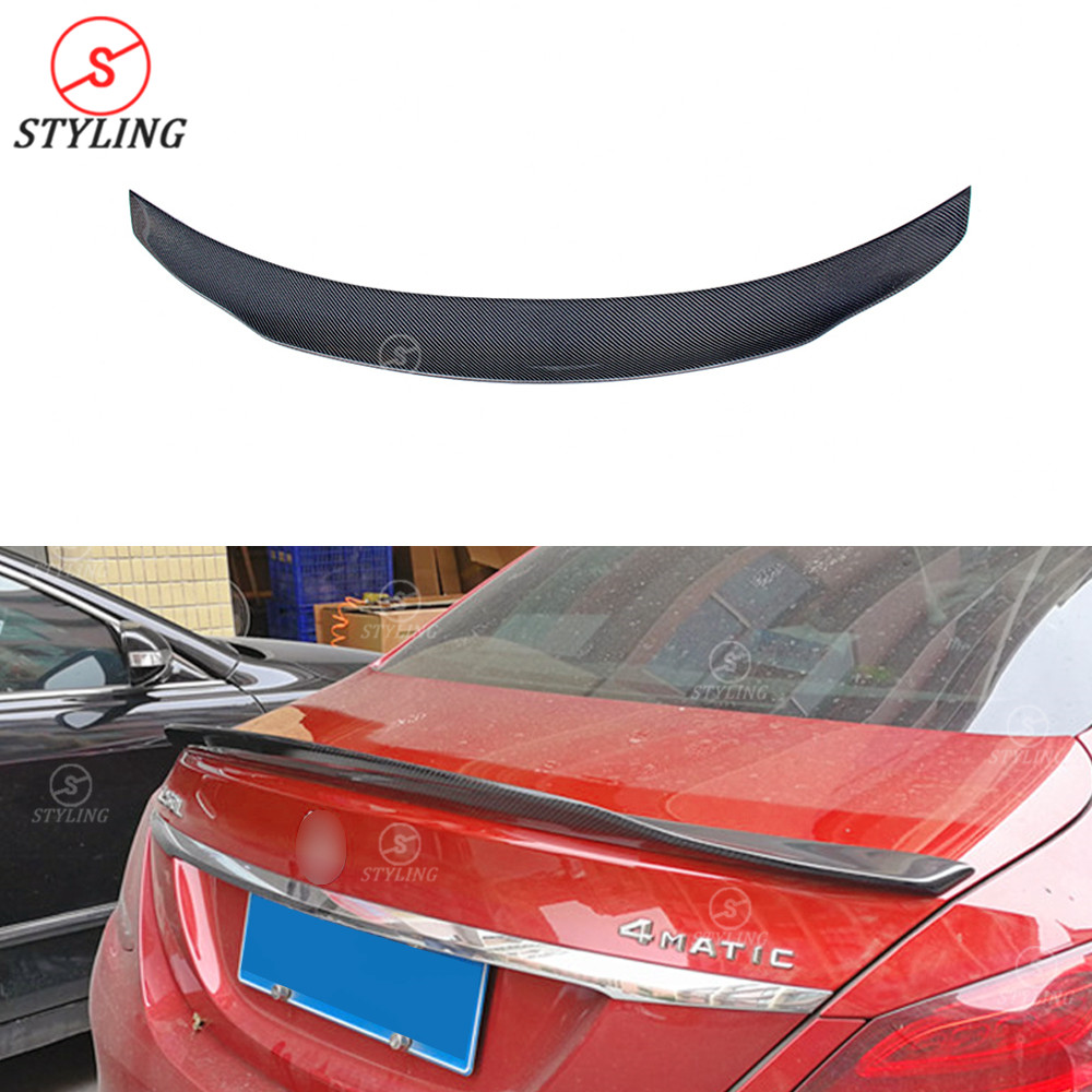 Tt Style Carbon Fiber Rear Spoiler For 2015 2019: Carbon Spoiler For Mercedes Benz W205 Sedan Carbon Fiber