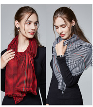 2018 new women double-sided plaid thick scarf temperament warm air conditioning striped cashmere windproof shawl soft