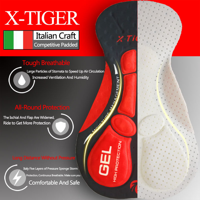 X-tiger 2020 atualizar ciclismo shorts ciclismo roupa interior pro 5d gel almofada à prova de choque ciclismo underpant bicicleta shorts roupa interior 3