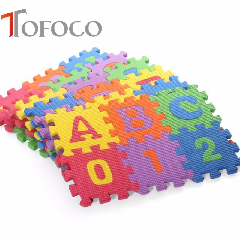 TOFOCO 31.5*31.5cm 36pcs/set Foam Puzzle Carpet Baby Play Mat Mosaic Floor Puzzle Rug Children Foam Carpet