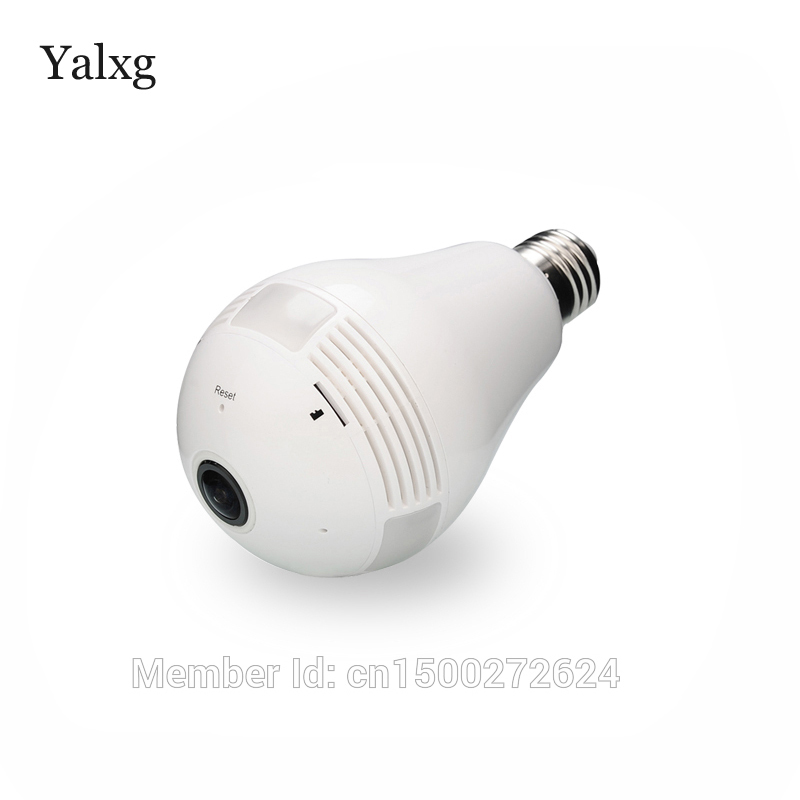 Yalxg Security Camera Home Mini IP 1080P Baby Monitor 2.0MP/3.0MP Wi-fi Led Panoramic Lamp DVR Camera Wireless Bulb CCTV Cam eplutus dvr 920 wi fi 2 камеры