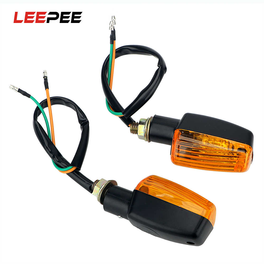 LEEPEE 1 Pair Motorcycle Flasher LED Turn Signal Lamp Universal DC 12V Motorbike Indicator Light Amber Blinker Bulb