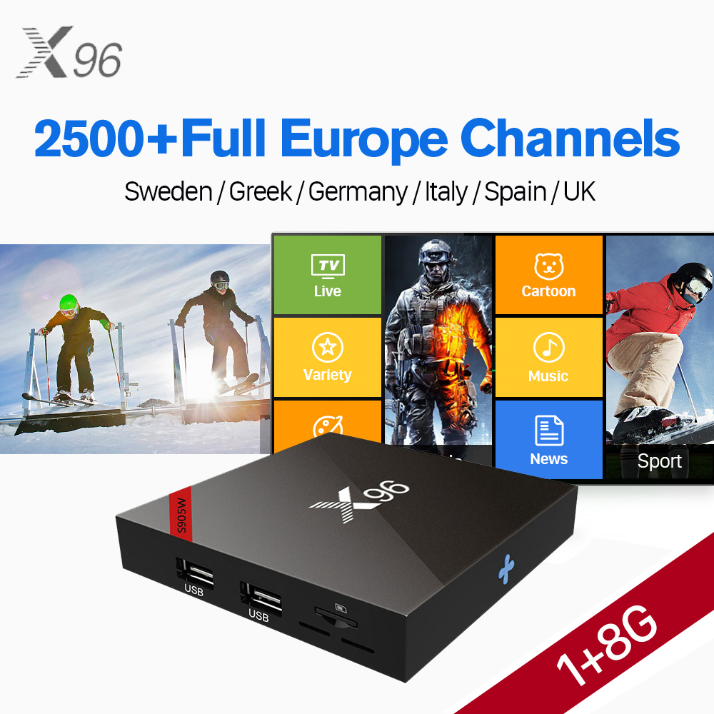 X96 Android 7.1 TV Box Amlogic S905W WIFI 4K HD X96W Smart Set Top Box IUDTV 2500+ IPTV Europe Arabic Spain Italy IPTV Top Box hot x96 tv box 2gb 16gb s905x quad core 2 4ghz wifi hdmi smart set top box with iudtv iptv abonnement french arabic iptv top box
