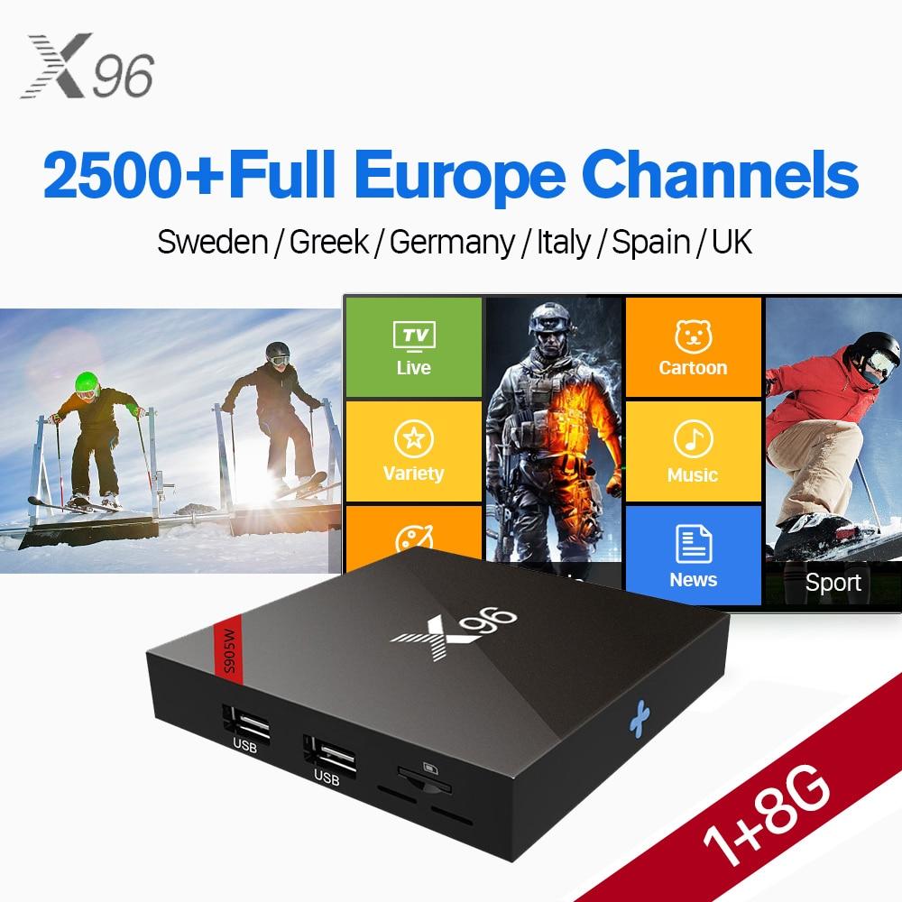 X96 Android 7.1 TV Box Amlogic S905W WIFI 4K HD X96W Smart Set Top Box IUDTV 2500+ IPTV Europe Arabic Spain Italy IPTV Top Box цена 2017