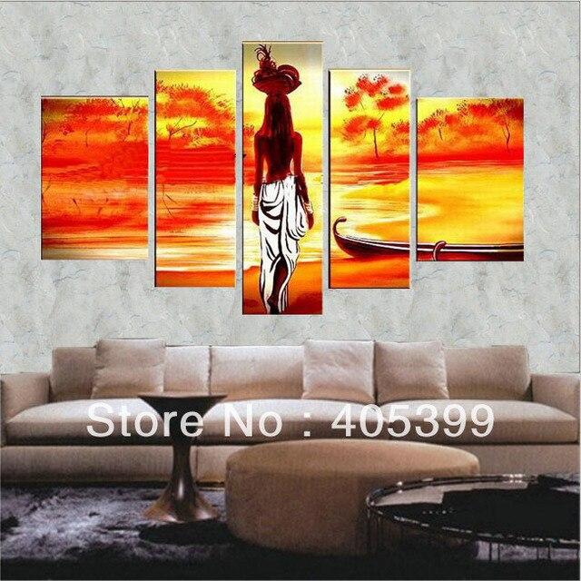 Free Shipping ,5pcs Oversized Modern Landscape Oil Painting Wall Art ,House Decoration Art JYJLV145