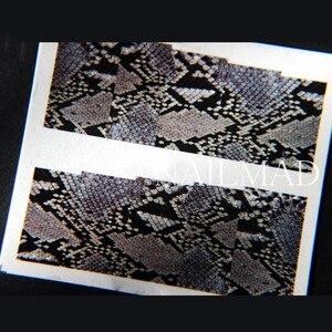 Image 2 - 1แผ่นงูผิวน้ำD Ecalsเล็บสไลด์น้ำเล็บสติกเกอร์กระดาษ