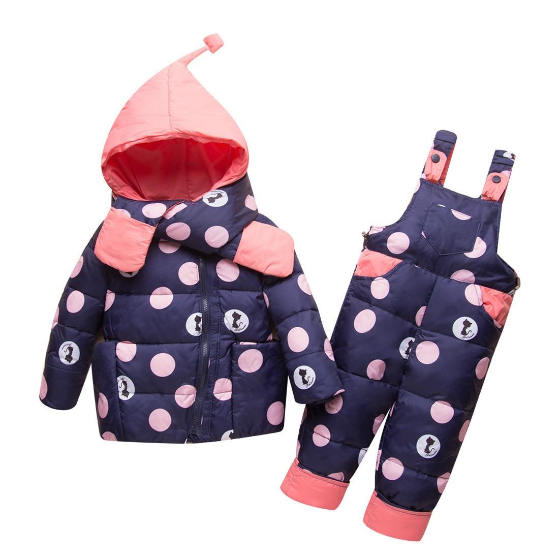 -30 degrés russie hiver enfants vêtements ensembles filles bébé fille vêtements pour garçons Parka vestes enfants manteau infantile vêtements de neige