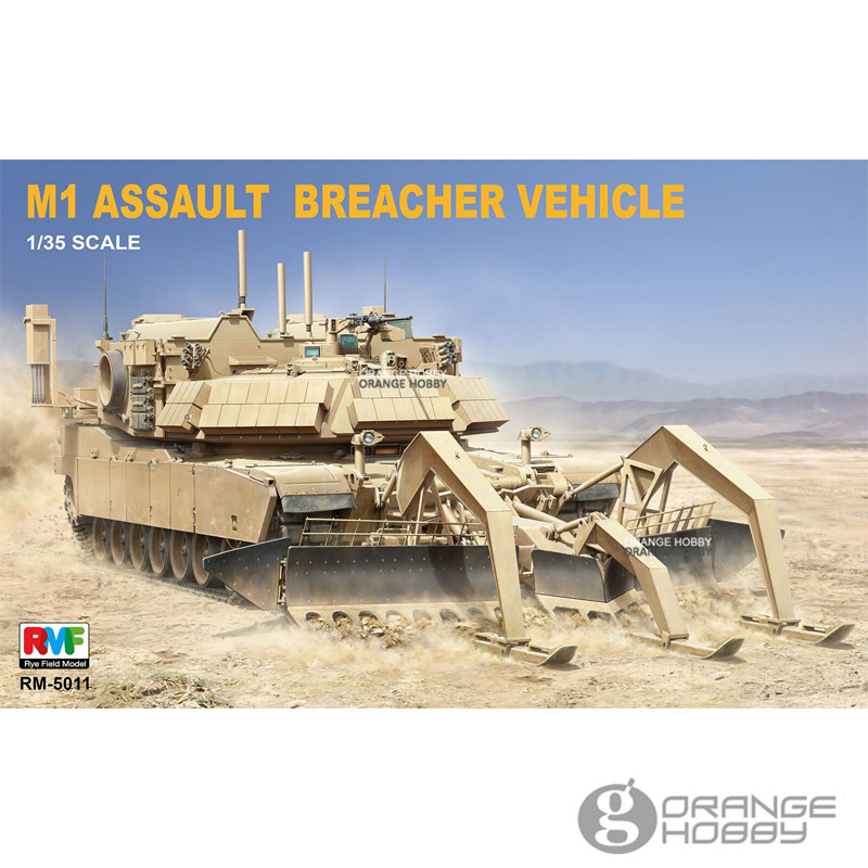 OHS RFM RM-5011 1/35 M1 Assault Breacher Vehicle Assembly AFV Model Building Kits oh радиобудильник rolsen rfm 200