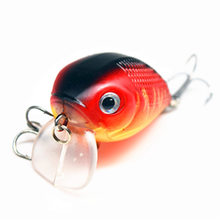 1Pcs 8g 5cm Hard Mini bait Spinner Minnow Chubby Lure Crankbait Baits Popper Hooks 3D Eyes Water Depth 0-0.5M 8Color FA-424