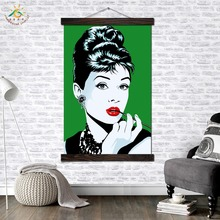 Audrey Hepburn Paint Art Modern Canvas Prints Poster Wall Painting Scroll Artwork Pictures Home Decoration