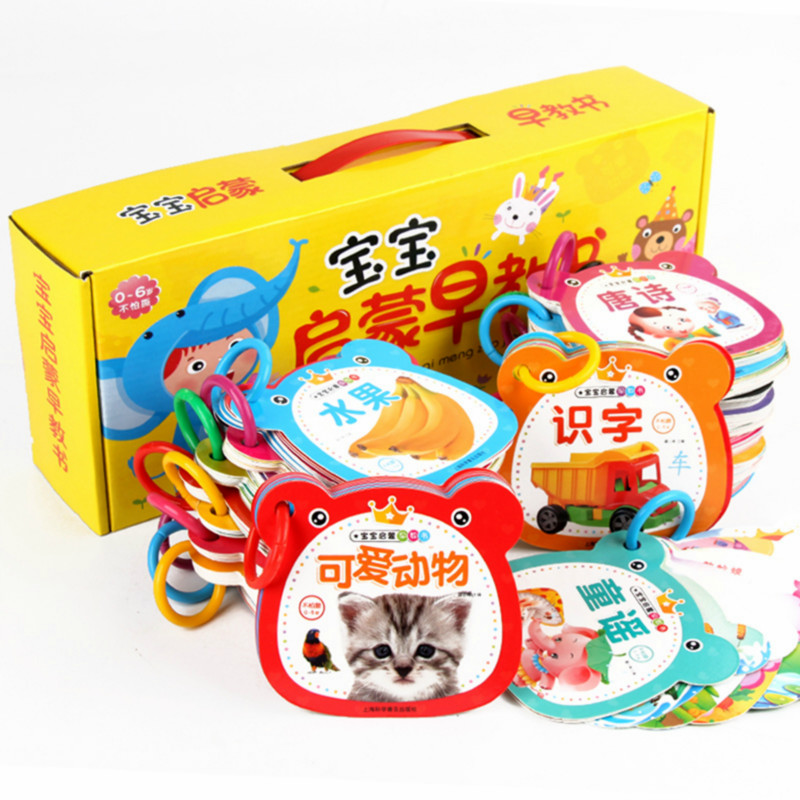 24pcs/set New Early Education Baby Preschool Learning Chinese Characters Cards With Picture ,Chinese Book With Pinyin English