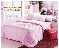 220*240cm 100% Wool Winter Blanket Plus Size Quilt Pink colcha Double Quilted Comforter Patchwork Bedspread set zara Women Duvet