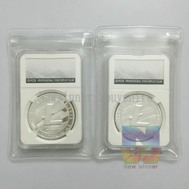 5pcs/lot 2013 Digital Litecoins Silver- Plated Physical Coins Metal Round Bullion Souvenir Gifts Hot Sale