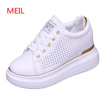 Spring Summe White Sneakers Shoes Woman Ladies Casual Hidden Wedge Heels Womens Wedges Platform For Women