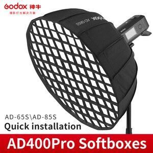 Image 1 - Godox AD S65S AD S65W 65CM AD S85S AD S85W 85cm 실버 깊은 파라볼 릭 Softbox + 벌집 그리드 Godox 마운트 Softbox AD400PRO