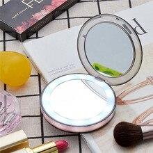 Светодиодный светодио дный свет макияж зеркальный шкафчик для спальни набор макияж туалетный столик 3 раза увеличительное стекло Индукционное освещение макияж зеркало