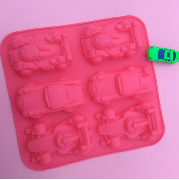Silica gel cake mold 6 and all kinds of car mould DIY soap mold baking products.