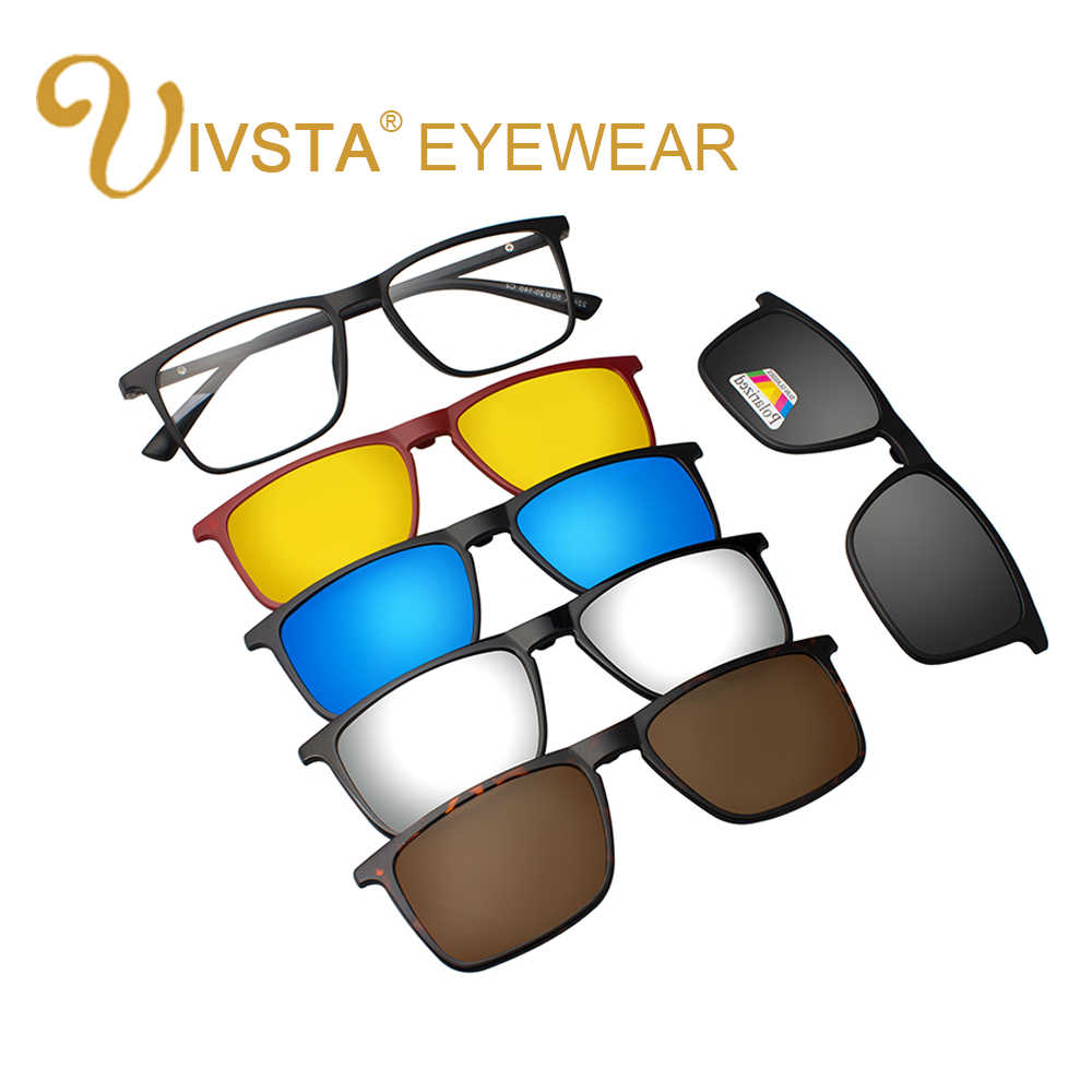 3c6a6764a5 ... IVSTA Clip On Sunglasses Women Frames Men Glasses Clips Magnetic  Sunglasses with Magnet Sunglasses Eyeglass Clip