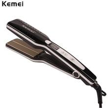 Wholesale prices Flat Iron Kemei Professional Tourmaline Ceramic Hair Straightener Straightening Irons Styling Tools brosse lissante Wholesale