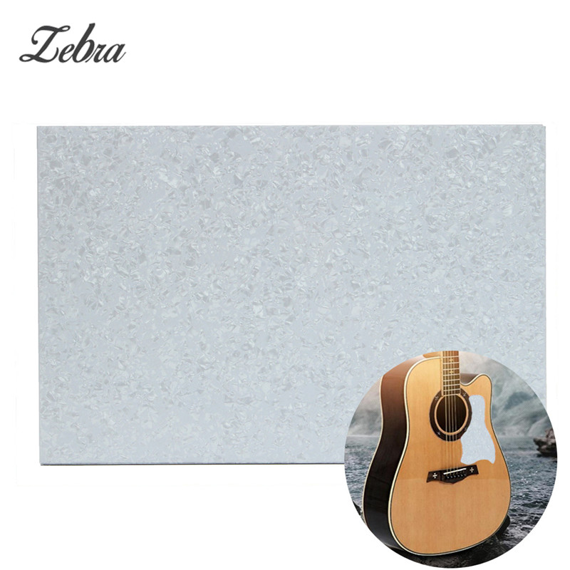 Zebra Blank Plate Sheet Pearl White 3 Ply Guitar Bass Pickguard For Ukulele Musical Stringed Instruments Parts Accessories sg standard full face guitar pickguard scratch plate zebra stripe with screws