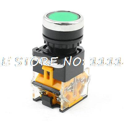 Industry NO NC Momentary Action Green Push Button Switch AC 660V 10A DPST [vk] a22nn rna nya g202 nn switch push dpst nc 10a 120v switch