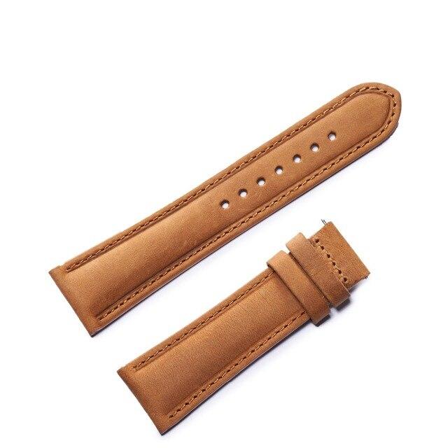 254cb422456 Reef Tiger RT Durable Watch Band Waterproof Calfskin Watch Strap Black  Brown Leather Watch Strap RGA3029
