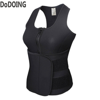 Shaper Tops Sweat Vest Belt Neoprene Sauna Waist Trainer Corset Vest Workout Slimming Adjustable Waist Shaper