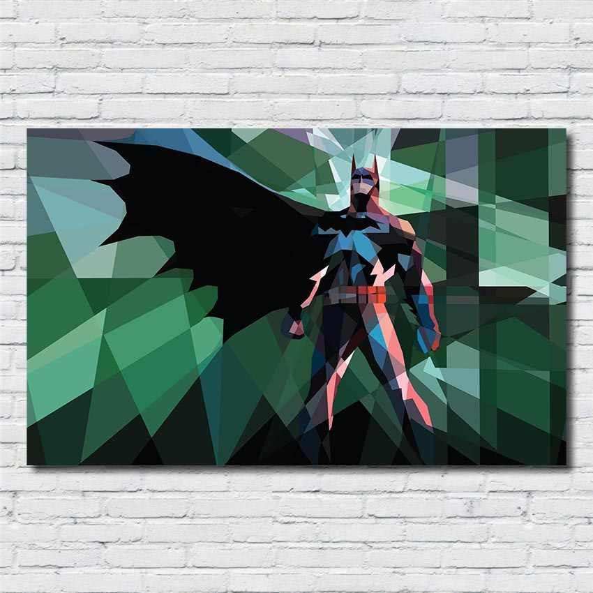 Abstract Painting Super Hero Wall Art Picture Watercolor Batman Posters and Kids Room Decor posters canvas painting  R368