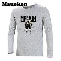 Long Sleeve Pittsburgh Russia hockeying Star #71 Evgeni Malkin Men T Shirt Clothes T Shirt Men's W17110802