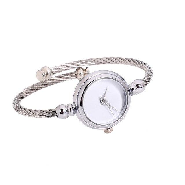 Womens Glass Mirror Bracelet Watch Quartz Watch jewery 252510