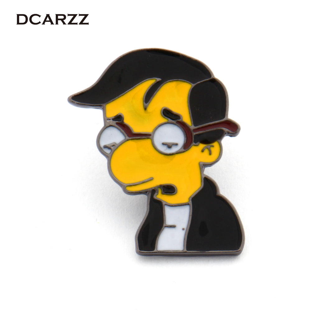 The <font><b>Simpson</b></font> Brooch Cartoon Anime Jewelry Simpsons Hopeless Romatic Millhouse Family Jewelry Pins for Backpack/Bag/<font><b>Jeans</b></font> Clothes
