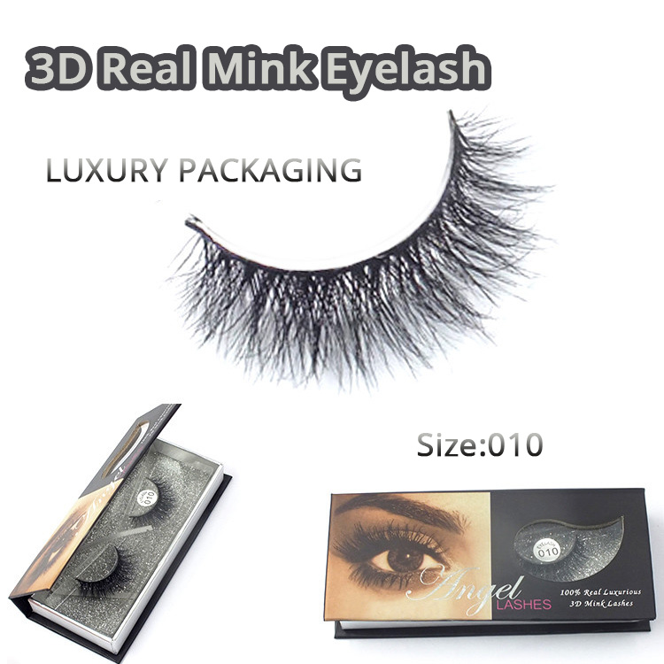 Natural 3D 100% Real Mink False Eye Lashes / Mink Individuella Falska - Smink