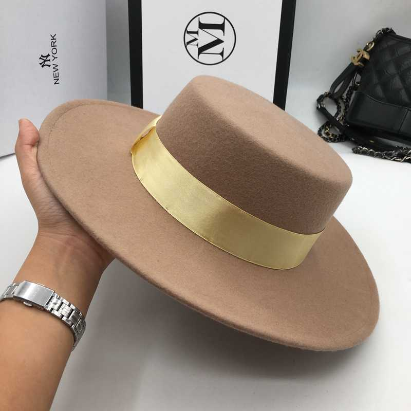 ... And camel wool hats for men and women joker Flat hat letters flat brim  felt hat ... 69032d07c90