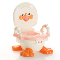 Cute Cartoon Duck Child Seat Toilet Portable Safe Backpack Baby Urinals Baby Training Toilet Baby Potty With Armrest