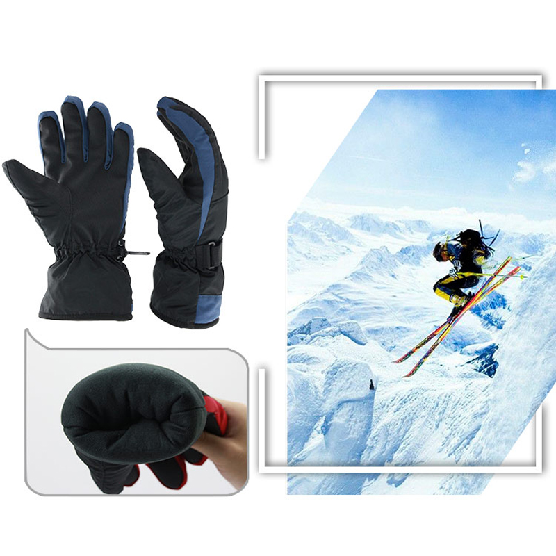 OZERO Winter Ski Gloves Warm Skiing Snowboard Snowmobile Motorcycle Riding Sports Windproof Waterproof Gloves For Woman 9011 in Skiing Gloves from Sports Entertainment