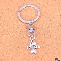 20Pcs I Love Soccer Keychain Novelty Gadget Trinket Souvenir Christmas Gift Keychain Drop Shipping