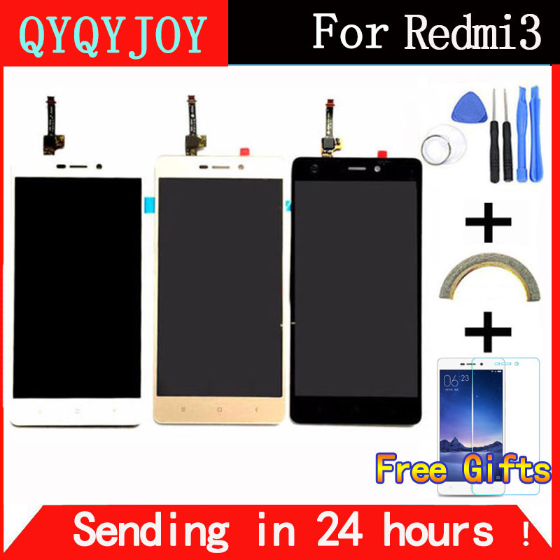 "imágenes para QYQYJOY Pantalla LCD + Asamblea de Pantalla Táctil Del Digitizador Para Xiaomi Redmi 3 Hongmi3 Redmi3 Teléfono Móvil 5.0 ""1280*720 Herramientas gratuitas"