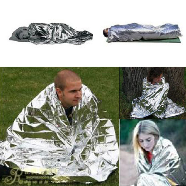 2017 New Emergency Survival Gear Rescue Space Silver Mylar Thermal Blankets Warm Wrap