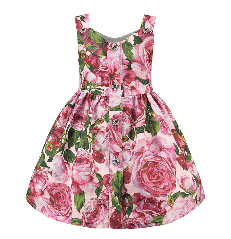 Dress baby girl clothes princess girls print flower dress kids clothes for girls sleeveless party dresses 2017 children clothing toddler girls dresses summer 2016 baby kids clothes princess children dress for girl clothes sleeveless flower party dress 2 10y