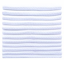 Sinland Homehould Microfiber Waffle Weave Fiber Towel Dishcloths Kitchen Cleaning Cloth Fast Drying 10PC/LOT 20cmx20cm White