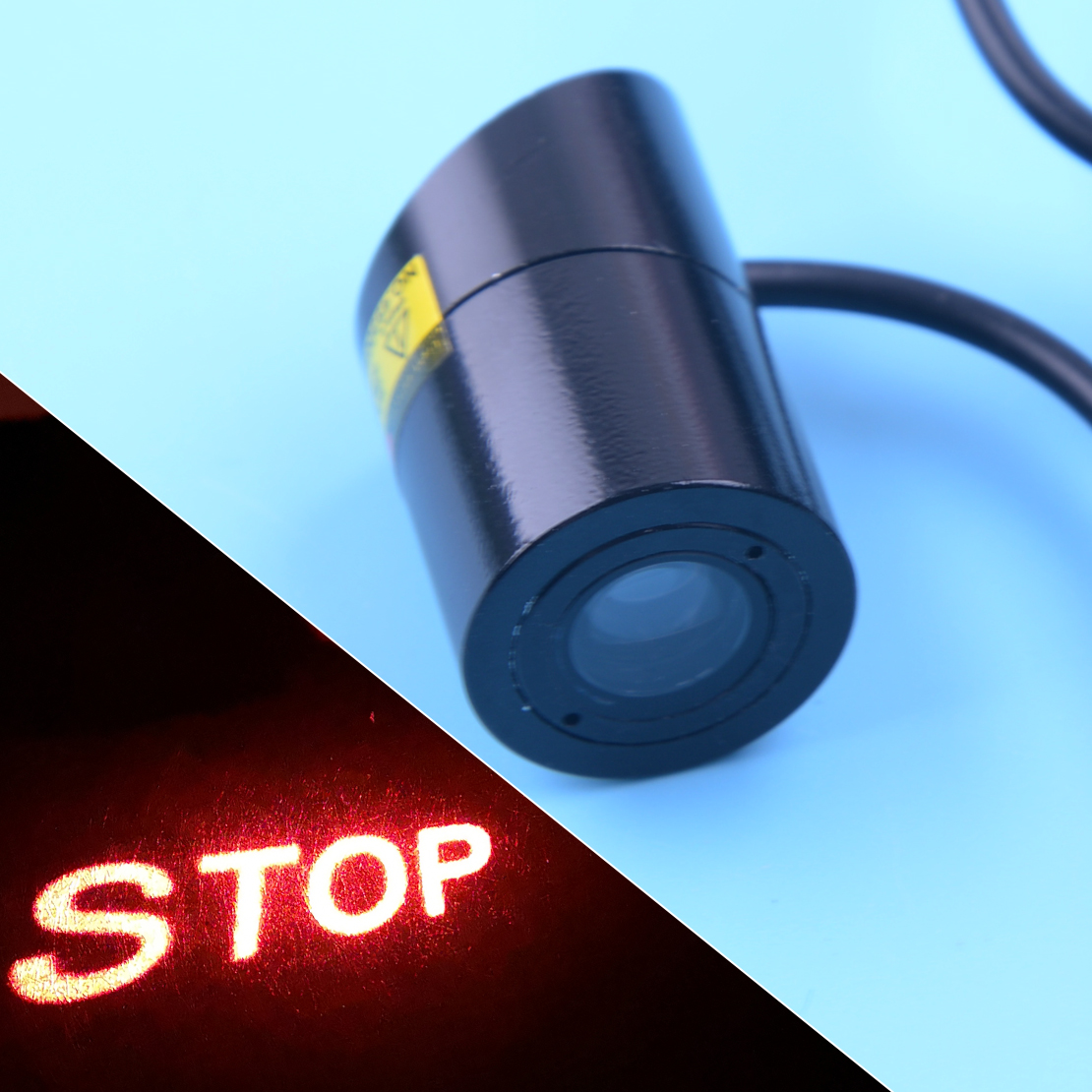 DWCX Car Styling STOP LED Light Tail Warning Brake Lamp Caution Projector Anti-Collision Accessories