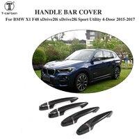 For BMW Carbon Fiber Car Door Handle decoration trims for BMW X1 F48 xDrive20i xDrive28i Sport Utility 4 Door 2015 2017 8PCS/Set