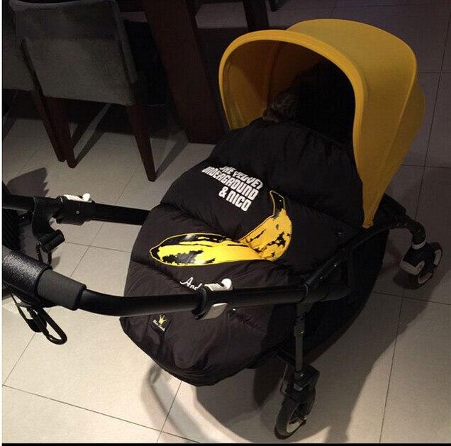 cute banana Baby stroller sleeping bag envelop baby sleeping sacks hinfant stroller footmuff pram warmer booties
