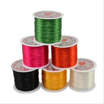 50 Meters/Roll 0.5mm Width Elastic Rope Stretch Beading Wire/Cord/String/Thread for DIY Bracelets Jewelry Making Materials Z473 hl 15mm width 2 meters 5 meters leopard elastic band diy garment accessories for making headband