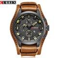 CURREN hombres de Primeras Marcas de Lujo de Cuarzo Relojes de los Deportes de Los Hombres Correa de Cuero Reloj de Cuarzo Militar Hombres Reloj de Moda nuevo Regalo de La Venta