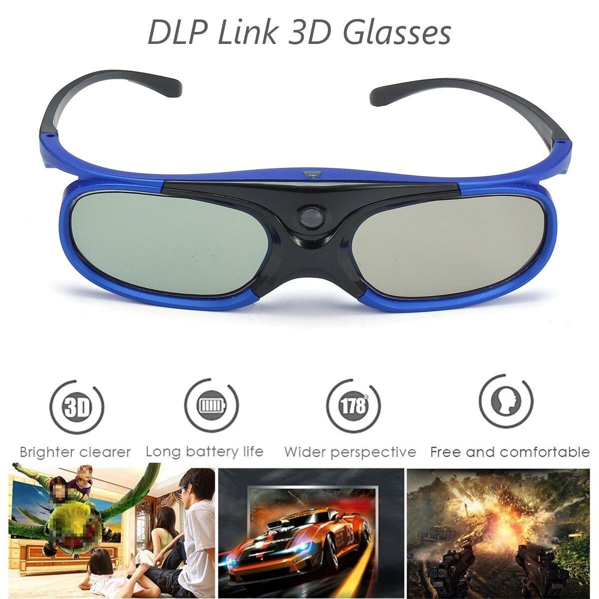 6747bc3f13f48 LEORY DLP Do Obturador Óculos 3D Link 3D Projetor Optoma Ativo 3 3dglasses  Com Bateria Recarregável Para Epson Para Sony para BenQ em Óculos 3D Óculos  de ...