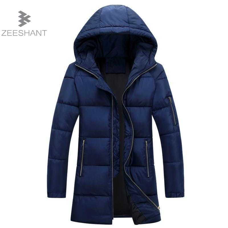 Zeeshant 2017 Brand Coat Male Parka Men Thick Warm Liner Hooded Collar Plus Size M-3XL Winter Jacket Men in Men's Parkas XXXL free shipping winter parkas men jacket new 2017 thick warm loose brand original male plus size m 5xl coats 80hfx