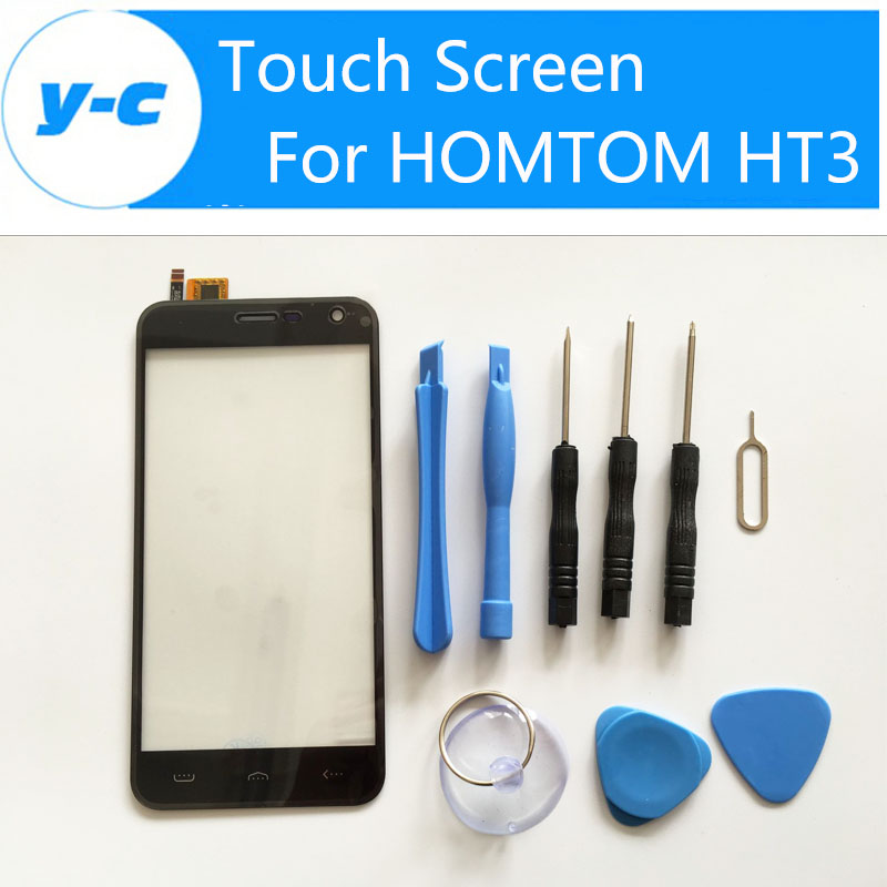 HOMTOM HT3 Touch Screen 100% New Digitizer Glass Panel Replacement For HOMTOM HT3 Phone Free Shipping + Track Number