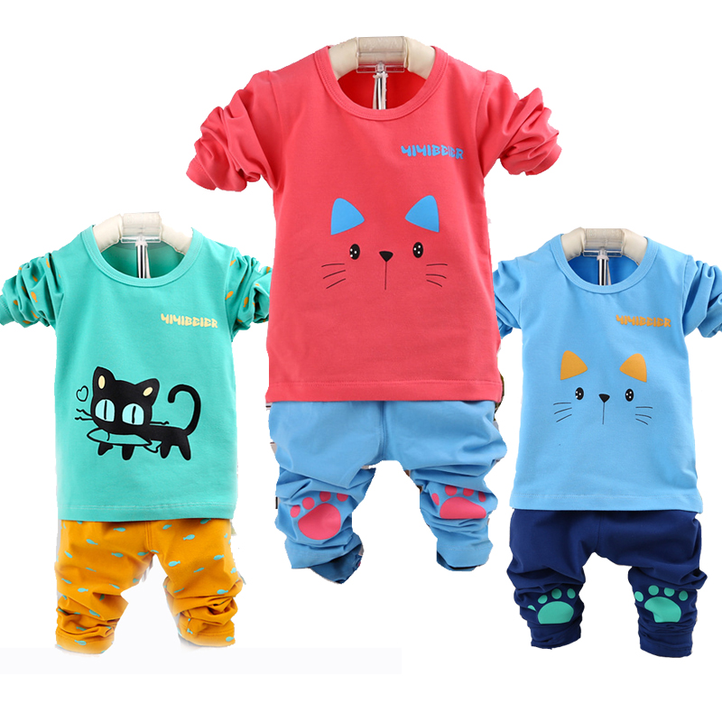 1-4Years Baby Boys Clothes Sets 2PCS Cotton Kids Boys Clothes Set Spring Toddler Boys Clothing Sets Children Suits 2017 New